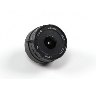 """2.8mm IR Board Lens F2.0 CCD Size 1/2.5"""" 156° Angle w/Mount"""