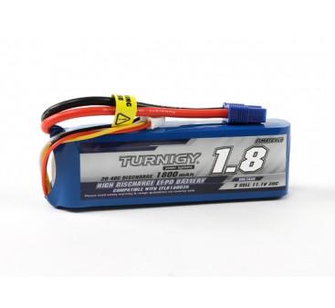 Turnigy 1800mAh 3S 20C LiPoly Pack w/ EC3 (E-flite Compatible EFLB32003S)