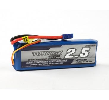 Turnigy 2500mAh 3S 30C LiPoly Pack w/ EC3 (E-flite Compatible EFLB25003S30)