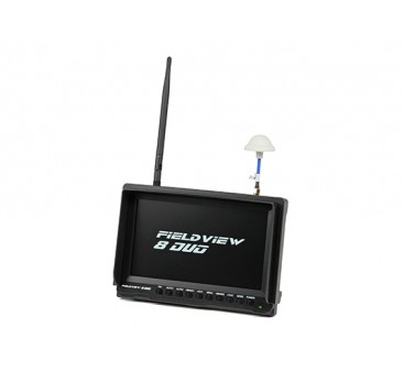 8 inch 800 x 480 LCD Sunlight Viewable FPV Monitor w/32CH Dual Receiver, PIP (US plug)
