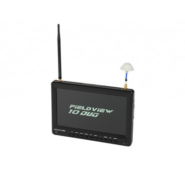 10 inch 1366 x 768 LCD Sunlight Viewable FPV Monitor w/32CH Dual Receiver, PIP (US plug)