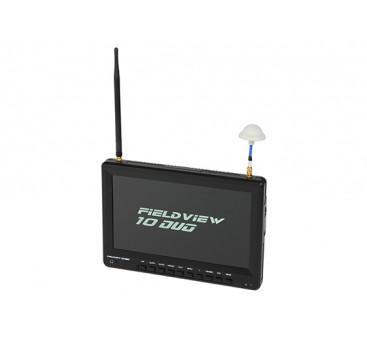 10 inch 1366 x 768 LCD Sunlight Viewable FPV Monitor w/32CH Dual Receiver, PIP (EU plug)