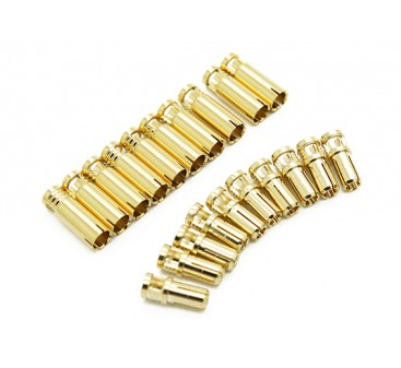 4mm Supra X Gold Bullet Connectors (10 pairs)