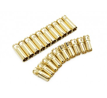 5mm Supra X Gold Bullet Connectors (10 pairs)