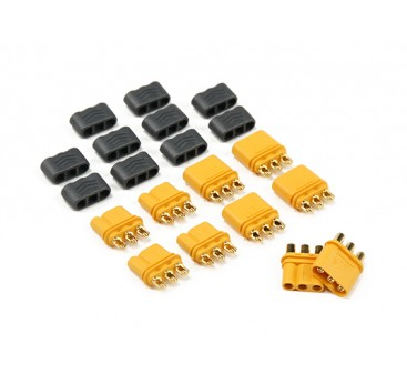 MR30 - 2.0mm 3 Pin Motor to ESC Connector (30A) Male/Female (5 sets/bag)