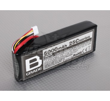 B-Grade 5000mAh 3S 25C Lipoly Battery