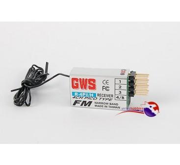 GWS R4 PII 4Ch FM Pico Receiver 35mhz