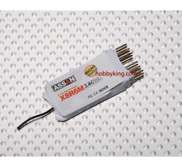 X8 R6M 6Ch Micro 2.4GHz Receiver (Short Antenna)