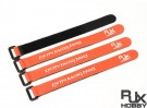 RJX Ultra-Grip Silicone Velcro Battery Straps Orange (200X20mmx4pcs)