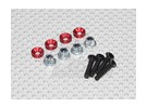 Color Servo Mounting Screw Set (red)