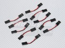 3cm Female to Female Servo Lead 26AWG (10pcs/set)