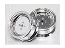 1:10 Scale Wheel Set (2pcs) Chrome Dish Style RC Car 26mm (no offset)