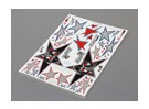 Self Adhesive Decal Sheet - Evil Black Star 1/10 Scale