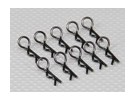 Heavy Duty 45 Deg Body Clips (Black) (10Pcs)