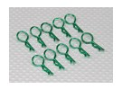 Medium-ring Body Clips (Green) (10Pcs)