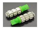 LED Corn Light 12V 2.6W (13 LED) - Green (2pcs)