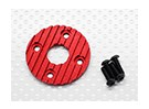 Aluminum CNC Motor Heatsink Plate 36mm (Red)