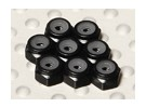 Black Anodised Aluminum M2 Nylock Nuts (8pcs)