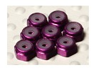 Purple Anodised Aluminum M2 Nylock Nuts (8pcs)