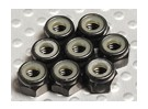 Black Anodised Aluminum M4 Nylock Nuts(8pcs)