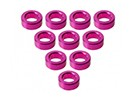 Aluminium M3 Flat Washer 2.0mm (10pcs) - 3Racing SAKURA FF 2014
