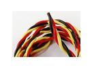 Twisted 22AWG servo wire 1mtr (R/B/Y) 22AWG