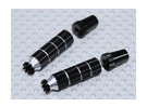 Alloy Anti-Slip TX Control Sticks Long (Futaba TX - Black)