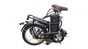 Electric Folding Bike Folded view