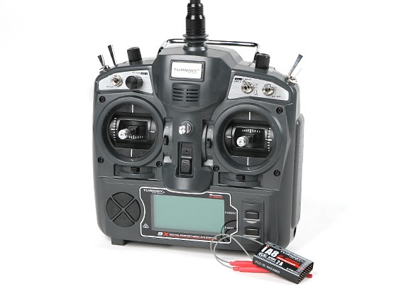 Transmisor Turnigy 9X 9Ch (Modo 2) (sistema AFHDS 2A) - con receptor