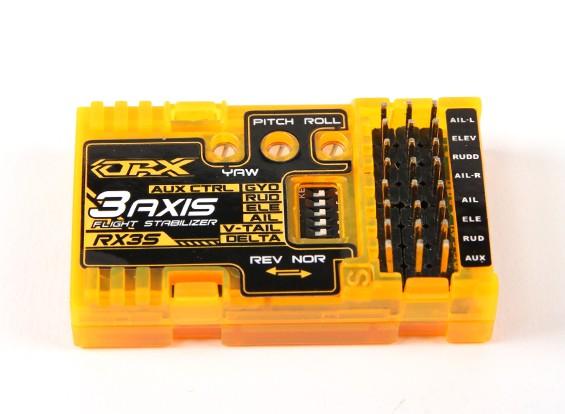 OrangeRX RX3S 3-Axis Flight Stabilizer V2 (V2.1 firmware) (V-tail/Delta/AUX)