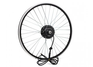 "E-Bike Conversion Kit for 26"" Bikes (PAS Front Wheel Drive) (36V/8.8A)  (UK Plug) - wheel"