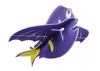 H-King Glue-N-Go Blue Tang EPP 850mm (Kit) - bottom front view