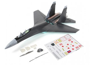 SU-35 Fighter Jet 1:20 Scale Mid-Engine Pusher Prop 735mm (KIT) - components