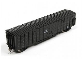 P64K Box Car (Ho Scale - 4 Pack) Black front