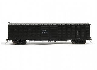 P64K Box Car (Ho Scale - 4 Pack) Black side