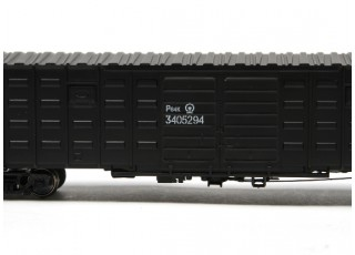P64K Box Car (Ho Scale - 4 Pack) Black detail 3