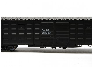 P64K Box Car (Ho Scale - 4 Pack) Black Detail 1