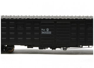 P64K Box Car (Ho Scale - 4 Pack) Black Detail 2