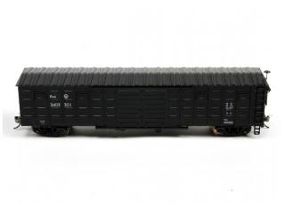 P64K Box Car (Ho Scale - 4 Pack) Black Set 2 Side