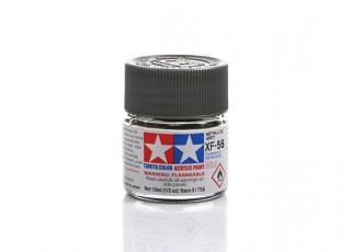 Tamiya XF-56 Flat Metallic Grey Mini Acrylic Paint (10ml)