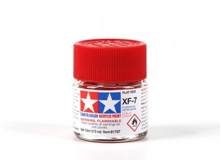 Tamiya XF-7 Flat Red Acrylic Paint (10ml)