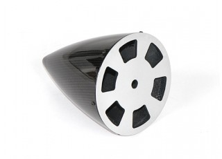 4.5 Inch Carbon Fiber Spinner with Aluminium Backplate - bottom