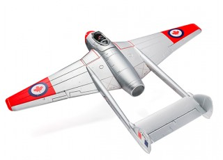 Durafly™ D.H.100 Vampire Mk6 EDF Jet V2 RCAF - top view