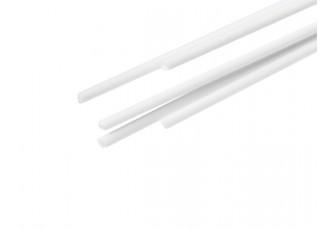 ABS Round Rod 0.8mm x 500mm White (Qty 5)