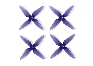Team RaceKraft 3041 Q4CS 4 Blade Props - Clear Purple