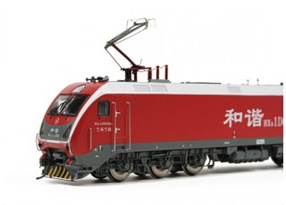 HXD1D Electric Locomotive Red HO Scale (DCC Equipped) rear