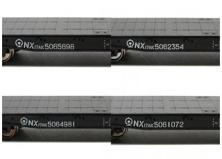 NX17K Flat Car (HO Scale - 4 Pack) Set 2 Lettering detail