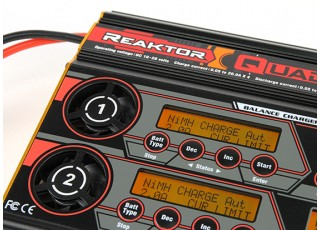 Turnigy Reaktor QuadKore 1200W 80A (4 X 300W 20A) Balance Charger now with NiZN and LiHV - displays