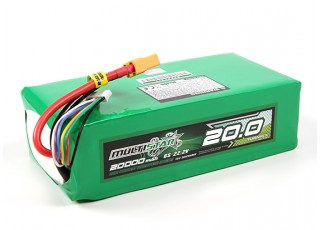 Multistar High Capacity 20000mAh 6S 10C Multi-Rotor Lipo Pack