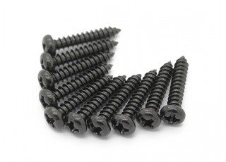 Screw Round Head Phillips M3x16mm Self Tapping Steel Black (10pcs)